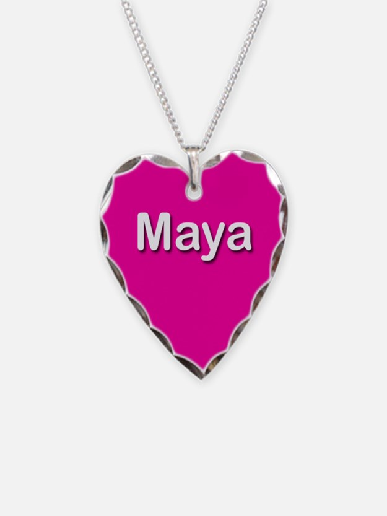 Maya Pink Heart Necklace Charm
