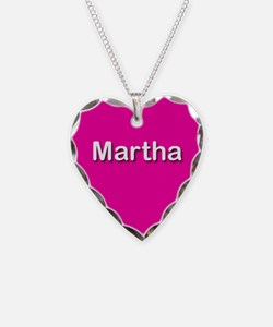 Martha Pink Heart Necklace Charm