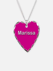 Marissa Pink Heart Necklace Charm