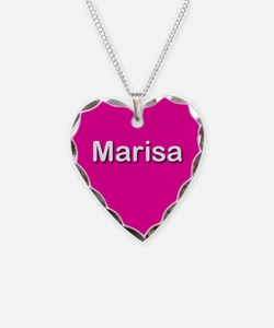Marisa Pink Heart Necklace Charm
