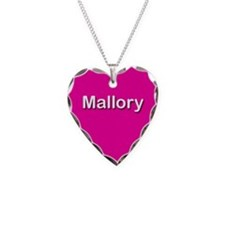 Mallory Pink Heart Necklace Charm