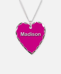 Madison Pink Heart Necklace Charm