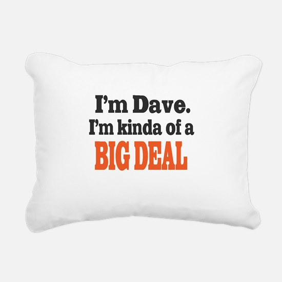 Big Deal (Orange) Rectangular Canvas Pillow