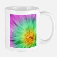 Green And Purple Tie Dye Mug