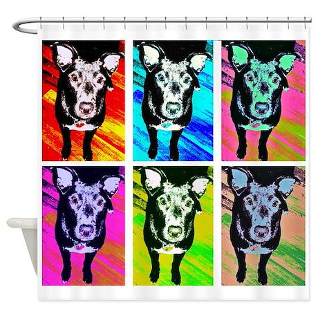 Art Dog Shower Curtain