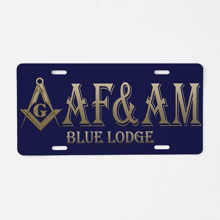AF & AM Aluminum License Plate