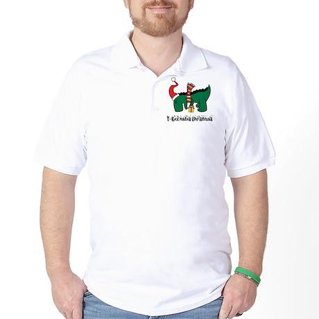 T-Rex hates Christmas Golf Shirt