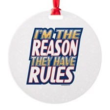 Attitude Im The Reason They Have Rules Ornament