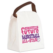 Future Basketball All Star Girl Canvas Lunch Bag