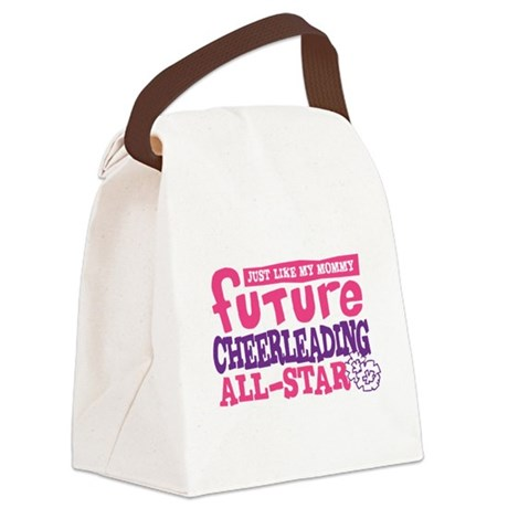 Future All Star Cheerleading Girl Canvas Lunch Bag