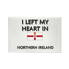 I Left My Heart In Northern Ireland Rectangle Magn