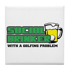 Golf Social Drinker Tile Coaster