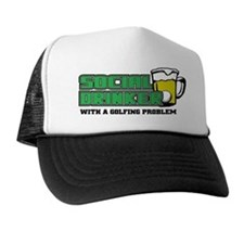 Golf Social Drinker Trucker Hat