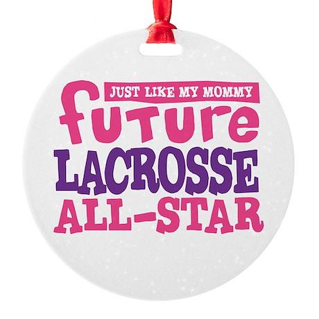 Lacrosse Future All Star Girl Round Ornament