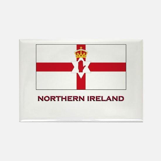 Northern Ireland Flag Gear Rectangle Magnet