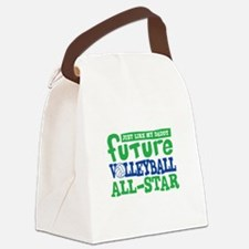 Future All Star Volleyball Boy Canvas Lunch Bag