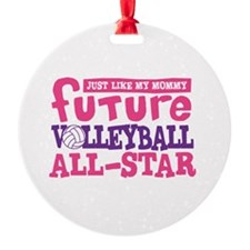 Future All Star Volleyball Girl Round Ornament