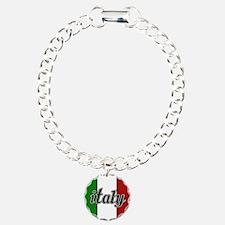 Italy Logo Charm Bracelet, One Charm