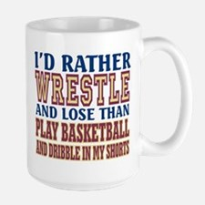Wrestling Dribble In My Shorts Large Mug