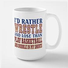 Wrestling Dribble In My Shorts Mug