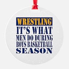 Boys Basketball Season Ornament