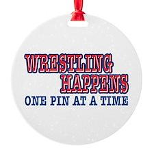 Wrestling Happens Ornament