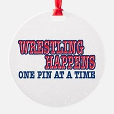 Wrestling Happens Ornament
