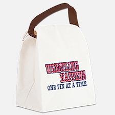 Wrestling Happens Canvas Lunch Bag
