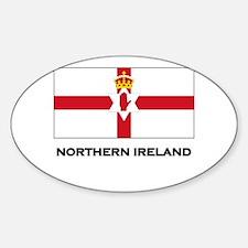 Northern Ireland Flag Merchandise Oval Decal