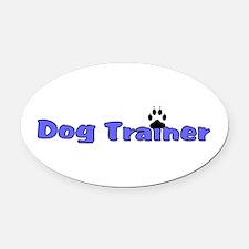 Dog Trainer Oval Car Magnet