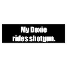 My Doxie rides shotgun (Bumper Sticker)
