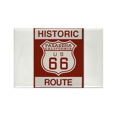 Pasadena Route 66 Rectangle Magnet