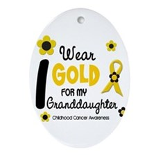 Cute Childhood cancer supportive Ornament (Oval)