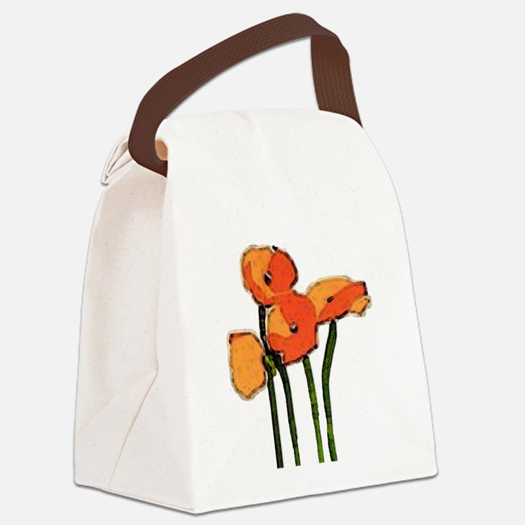 poppies 1 Canvas Lunch Bag