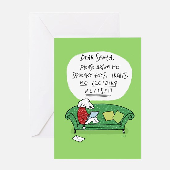 Dog's Letter to Santa Greeting Card
