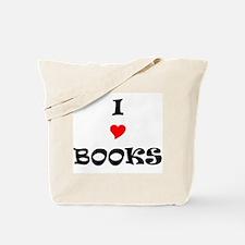 I LOVE BOOKS Tote Bag