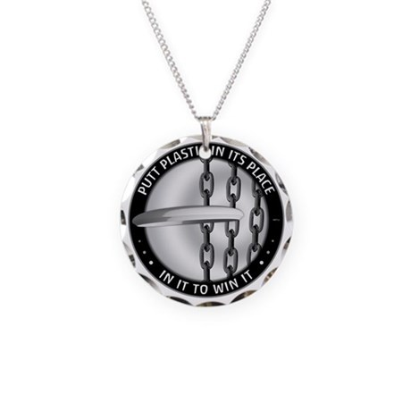 Putt Plastic In Its Place Necklace Circle Charm