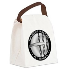 Putt Plastic In Its Place Canvas Lunch Bag