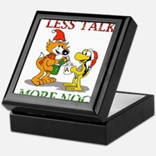 Less Talk, More Nog Keepsake Box