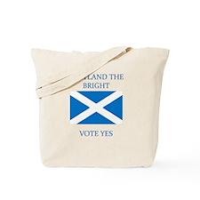 Scotland the Bright Vote Yes Tote Bag