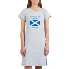 Scotland the Bright Vote Yes Women's Nightshirt