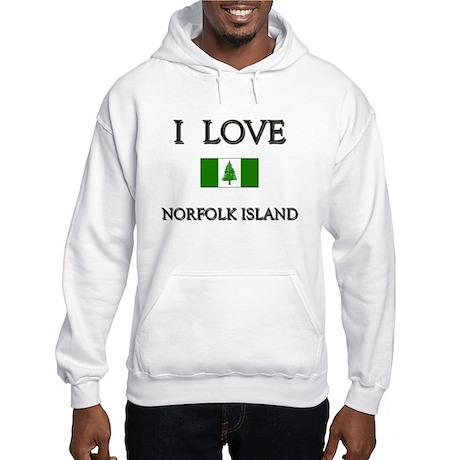 I Love Norfolk Island Hooded Sweatshirt