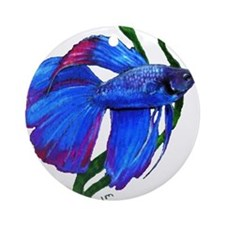 Unique Betta Ornament (Round)