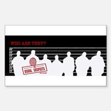 Suspects silhouette Rectangle Decal