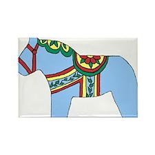 Blue Dala Horse Rectangle Magnet