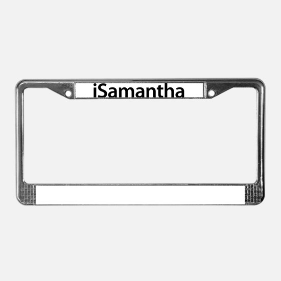 iSamantha License Plate Frame