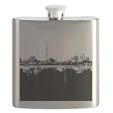Toronto Reflection B&W Flask