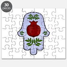 Hamsa Pomegranate Blue Puzzle