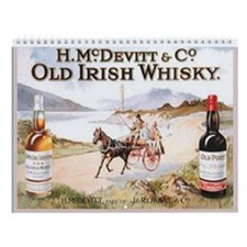 Irish Old Advertising Prints Wall Calendar