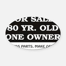 For Sale 80.jpg Oval Car Magnet